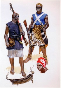 infantryman of the Kingdom of Dahomey during the Franco-Dahomean Wars in the 1890´s