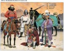 persian sassanid emperor Hormizd II with a roman prisoner.