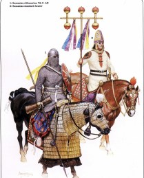 sassanid persian cavalryman during the wars against rome