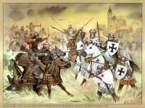 Teutonic Order and Mongols at the Battle of Liegnitz 1241.