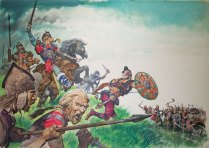 King Alfred at the Battle of Edington 878 A.D.