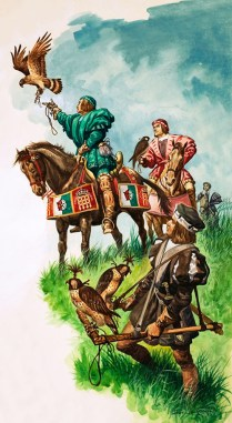 King Henry Hunts With Falcons