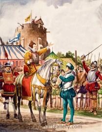 Queen Elizabeth I Delivers Her Armada Speech