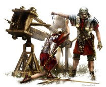 Roman Soldiers Operating the Ballista