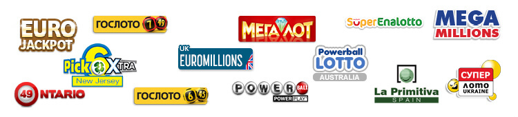 Logos of Russian lotteries