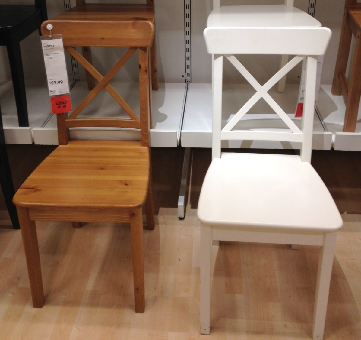 white wooden kitchen chairs sink with cutting board new ikea catalog thelotteryhouse