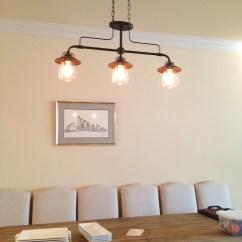 Lighting Over Kitchen Table Modern Island Edison Light Fixture Thelotteryhouse