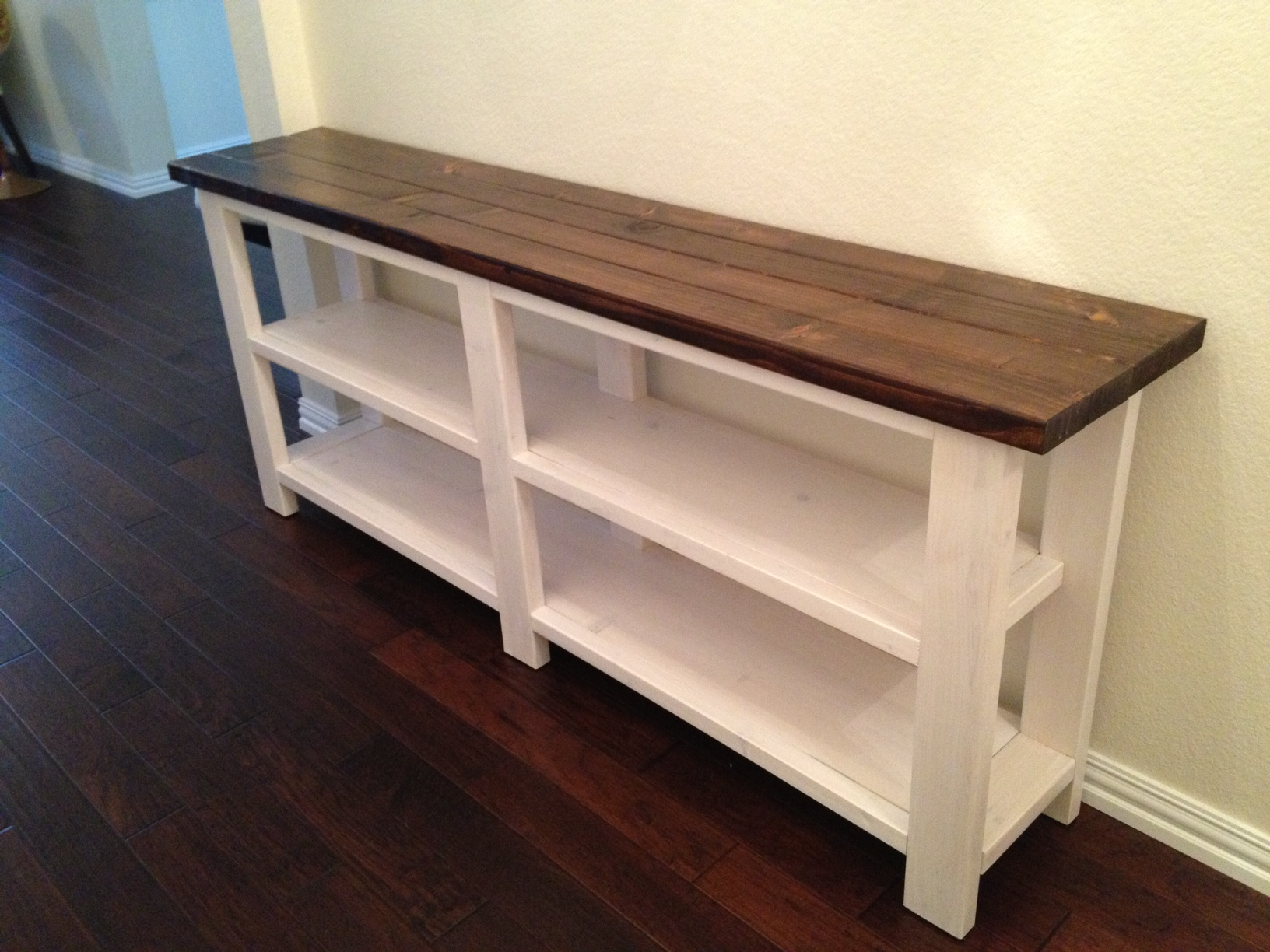 build a rustic sofa table mainstays sleeper brown x console thelotteryhouse