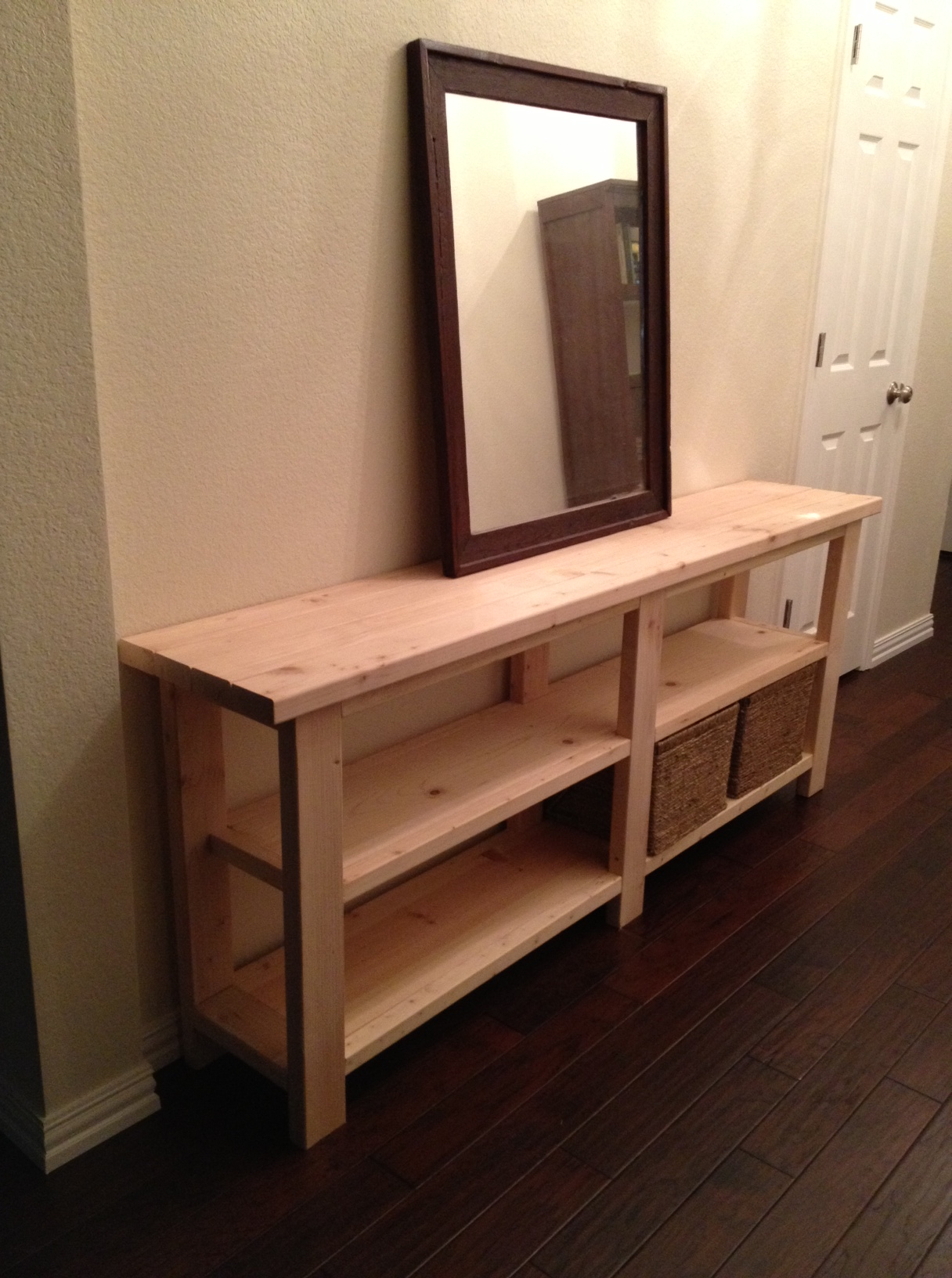 ana white sofa table bensen sleeper reviews rustic chic console thelotteryhouse