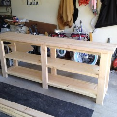 Build A Rustic Sofa Table Black Chair Download Plans Diy Gun Cabinet Sale Sassy30xbm