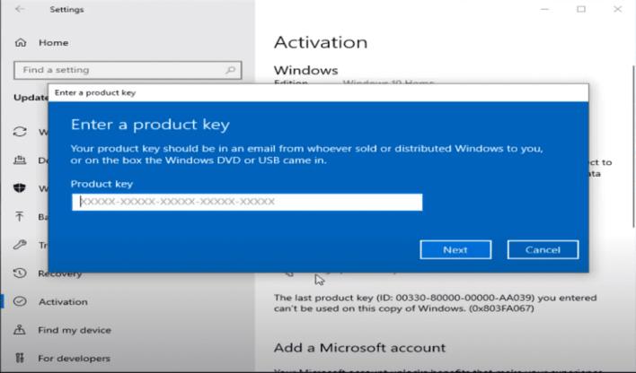 Windows 10 pro activation key
