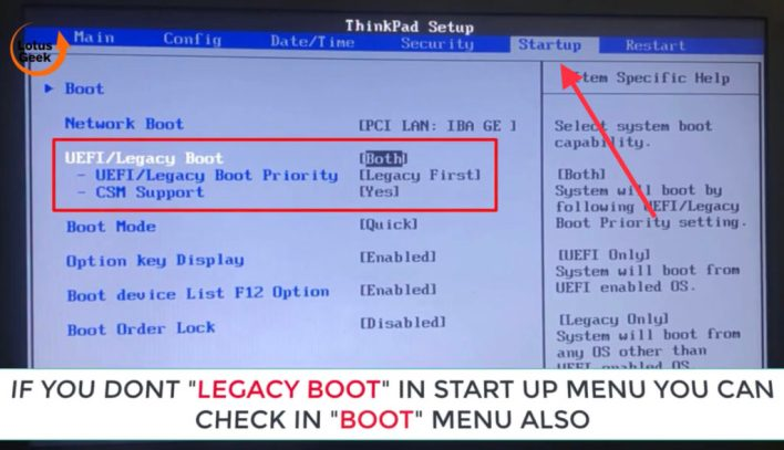System doesn't have usb boot option