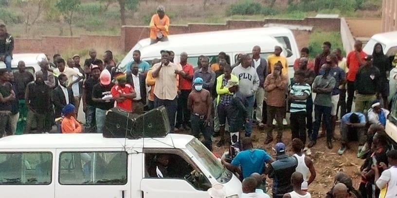 minibus demonstrations in malawi