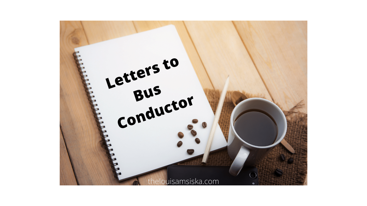 letter to bus conductor