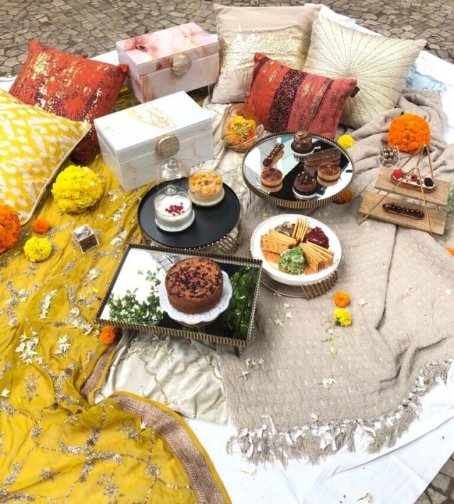 Picnic at home on Valentine's Day