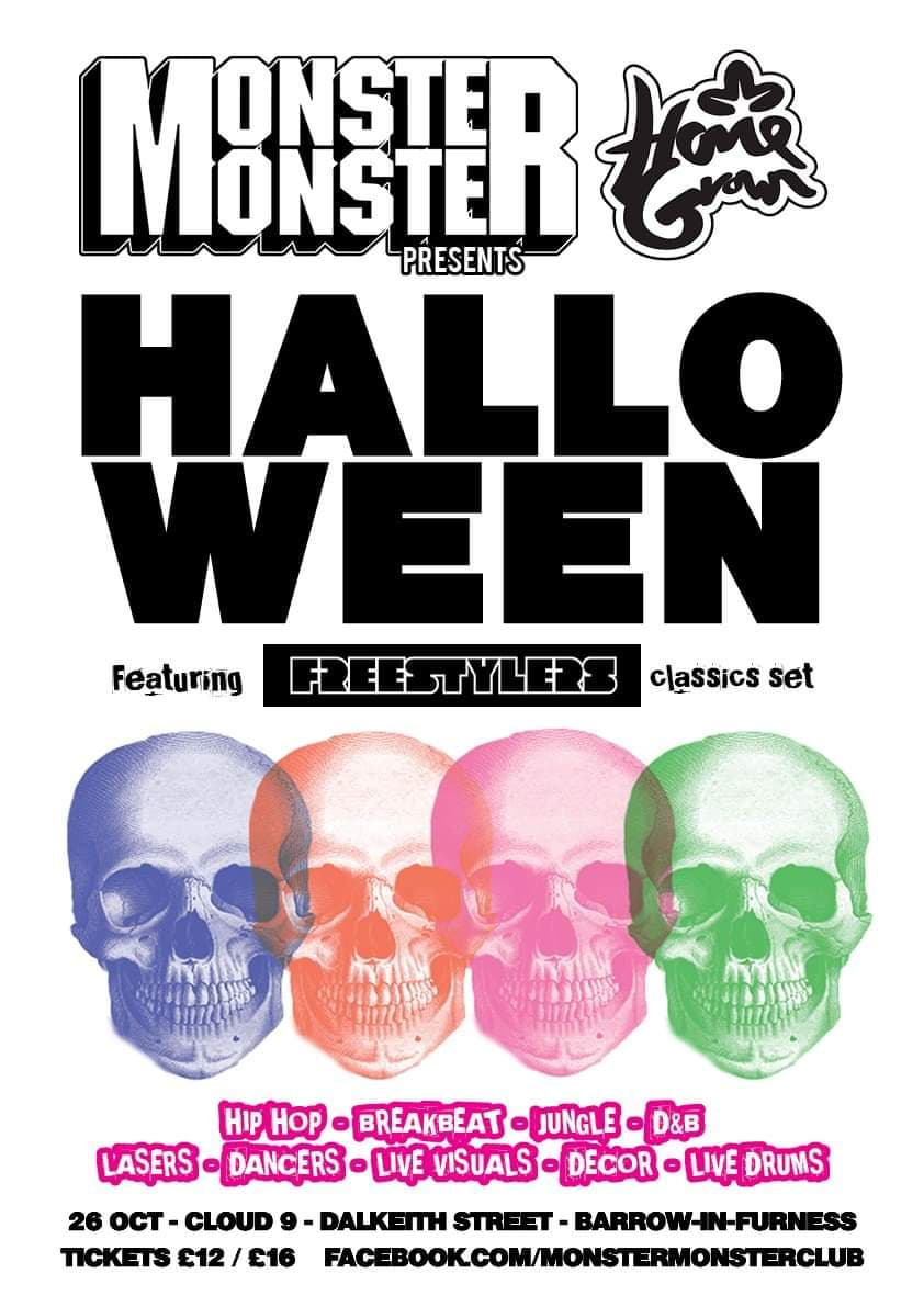 Monster Monster & HomeGrown's Halloween Rave - The Freestylers
