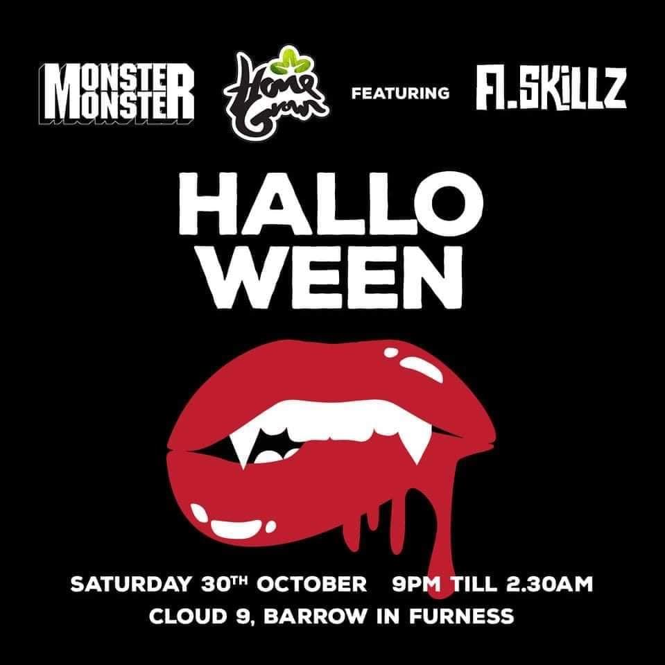 Monster Monster & HomeGrown Halloween Rave - Feat. A.Skillz