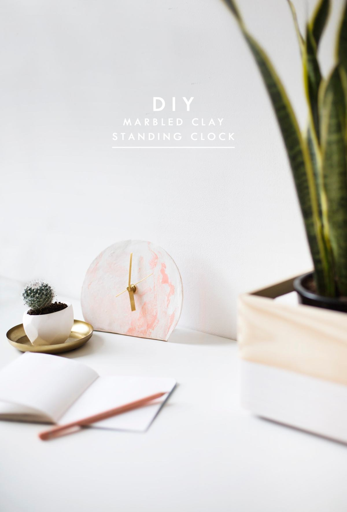 DIY mini standing desk clock   easy tutorial   polymer clay
