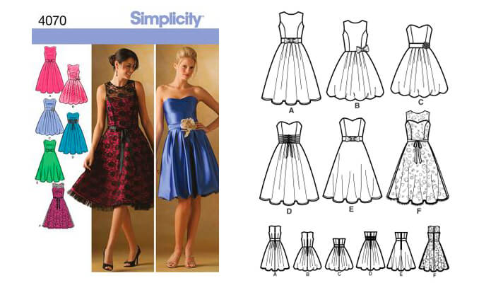 Bridesmaid Dresses Pattern - Simplicity 4070