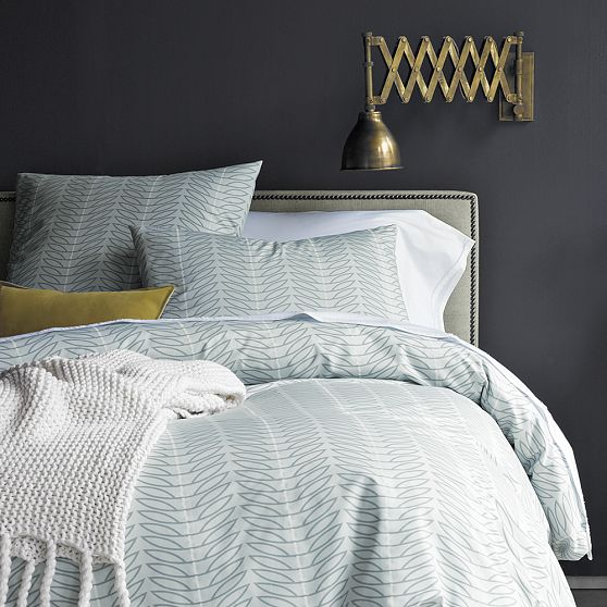 West Elm Organic Seedling Duvet Cover + Shams