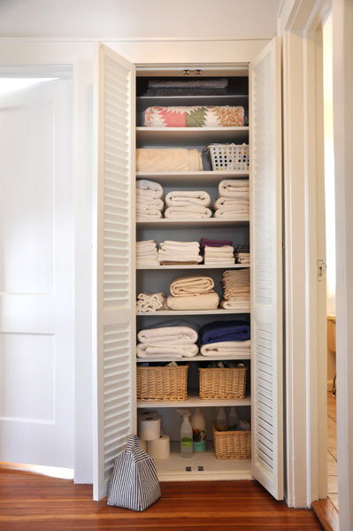 Linen Closet from Re-Nest (Apartment Therapy)