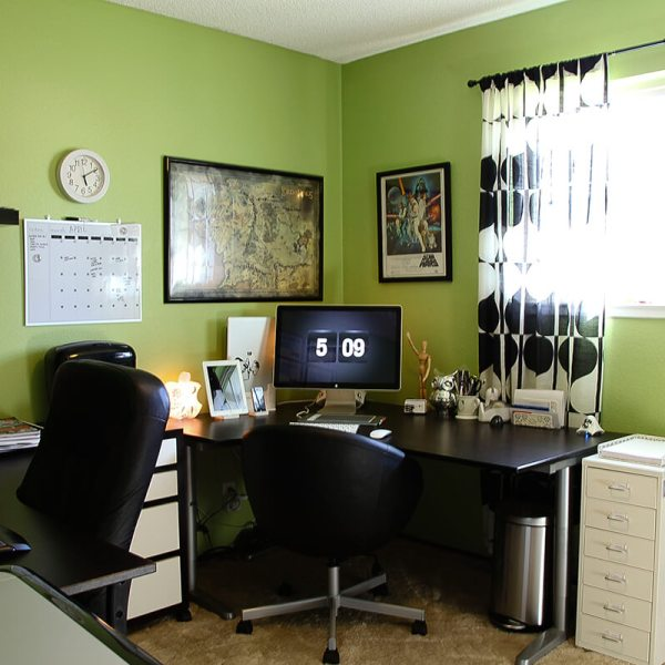 Our shared home office space
