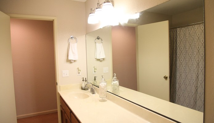 The finished guest bathroom
