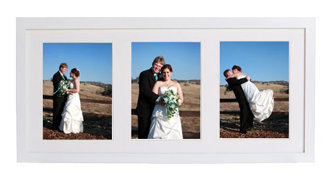 Our wedding photos in the IKEA RIBBA frame
