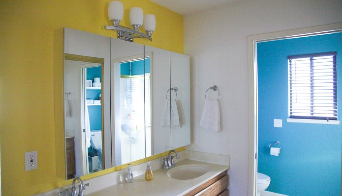 New Colors for the Master Bathroom #thelovelygeek