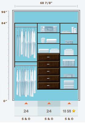 Joshua's Closet - Martha Stewart Living at The Home Depot Closet System
