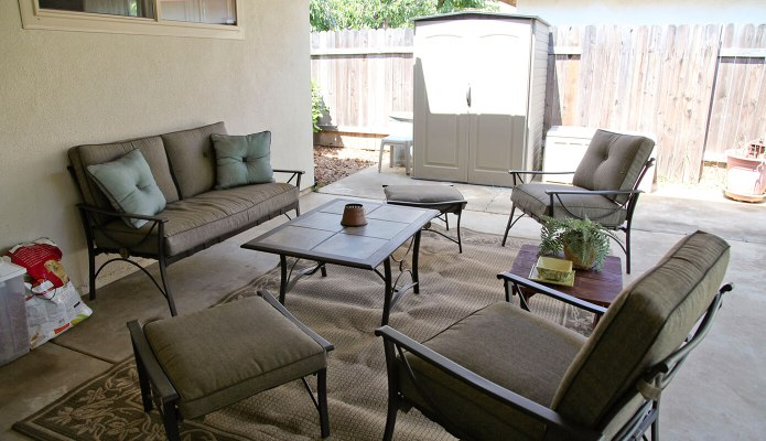 The back patio in our second rental #thelovelygeek