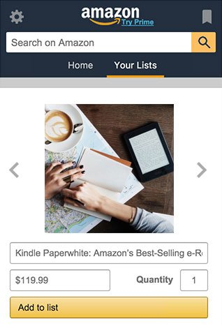 Amazon Assistant Lists