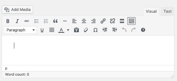 The WordPress Editor