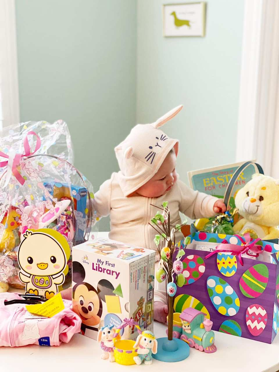 Lily with her Easter haul