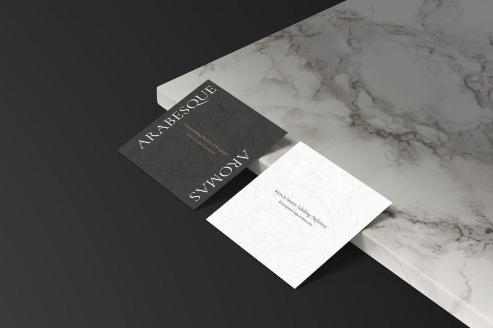 Arabesque Aromas Business Cards