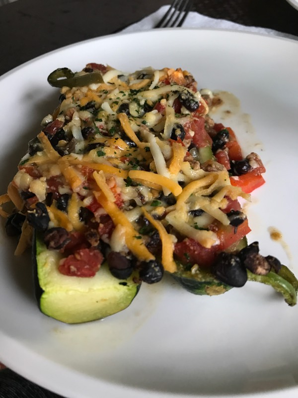 Easy to Make, Vegetarian Zucchini Enchilada Boats
