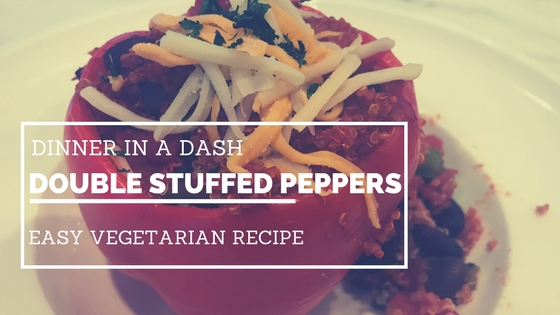Our Favorite Double Stuffed Peppers | Quick Vegetarian Stuffed Peppers