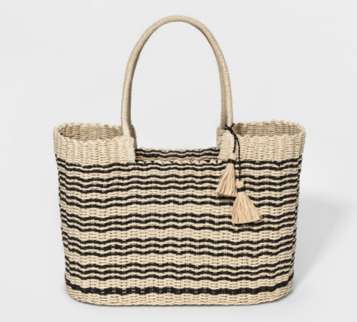 Large, sturdy (and cute) totes make the perfect beach bags
