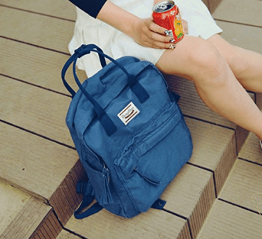 Canvas backpacks are a great summer bag with plenty of storage