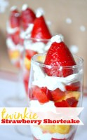 Making a yummy dessert doesn't have to be hard! These Twinkie Strawberry Shortcake are easy to throw together and even easier to serve at a party with their individual dessert portions! Plus, who doesn't love Twinkies?! {The Love Nerds} #HostessHoliday #ad