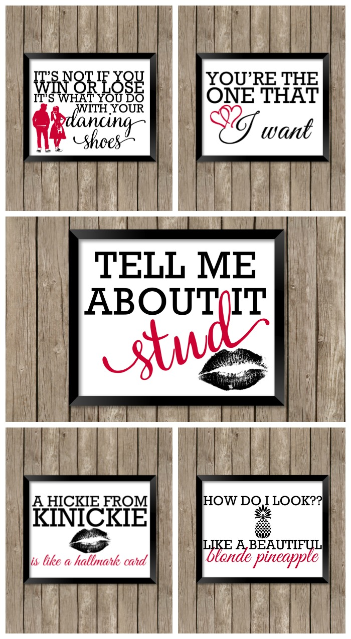 Grease Inspired Printable Valentines Persia Lou
