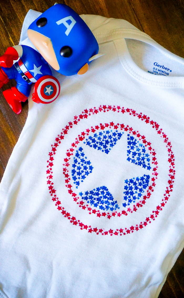 Captain America Star Shield Shirt - Celebrate your love for Captain America with this Patriotic Cap Shield Shirt that is also perfect for 4th of July!   The Love Nerds