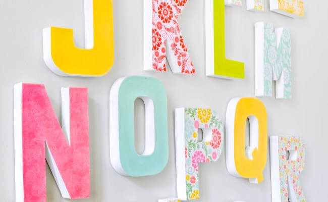 Diy Wall Letters Easy To Make And Customize For Your