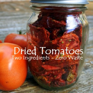 Dried Tomatoes — Just two ingredients and zero waste!