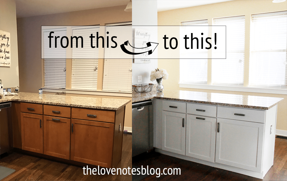 How To Paint Kitchen Cabinets The Love Notes Blog
