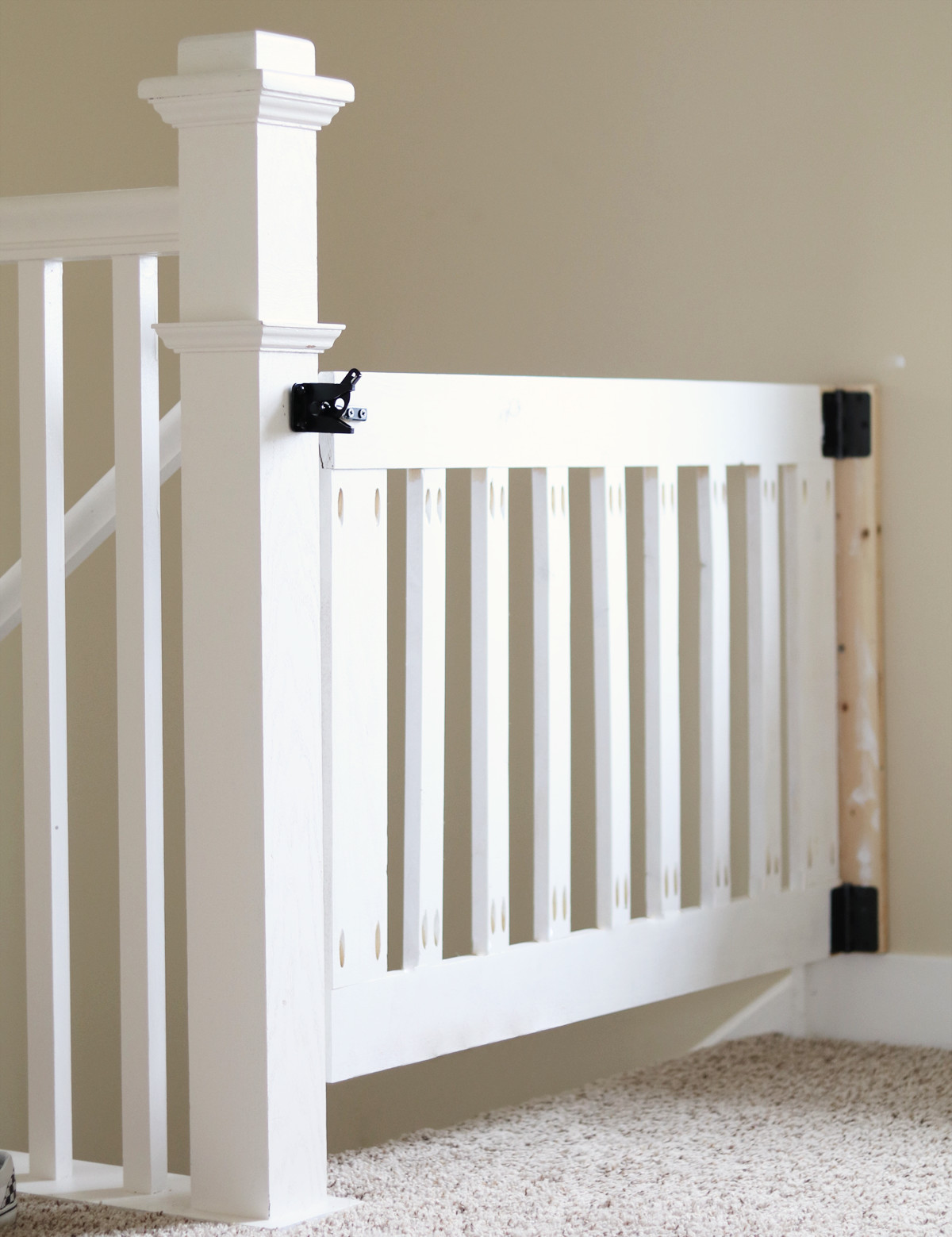 Custom Wooden Diy Baby Gate For Stairs And Hallways