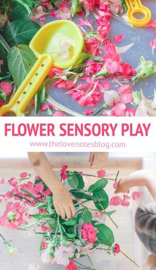 flower sensory play
