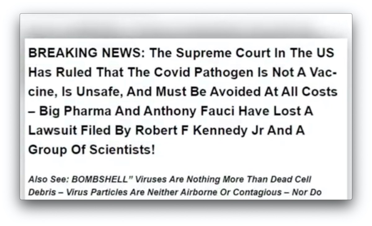 Supreme Court Has Canceled Universal Vaccination In the United States