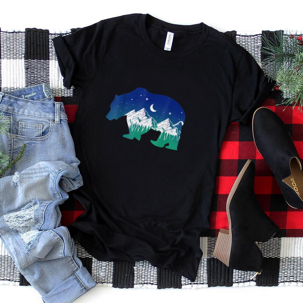 Bear Silhouette Mountain Camping Lover Gift T Shirt