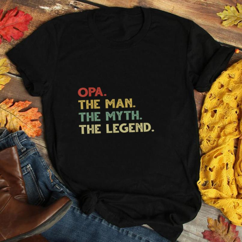 Best Opa The Man Myth Legend Christmas Father's Day Gift T Shirt